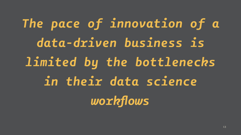 The pace of innovation of a data-driven busines...