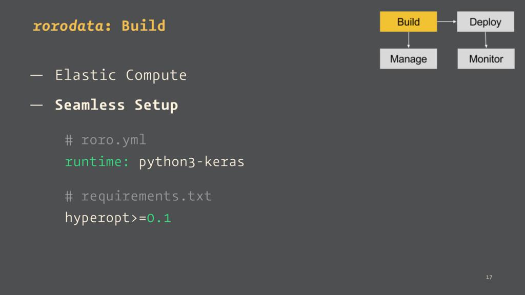 rorodata: Build — Elastic Compute — Seamless Se...