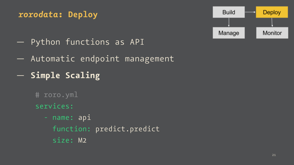 rorodata: Deploy — Python functions as API — Au...