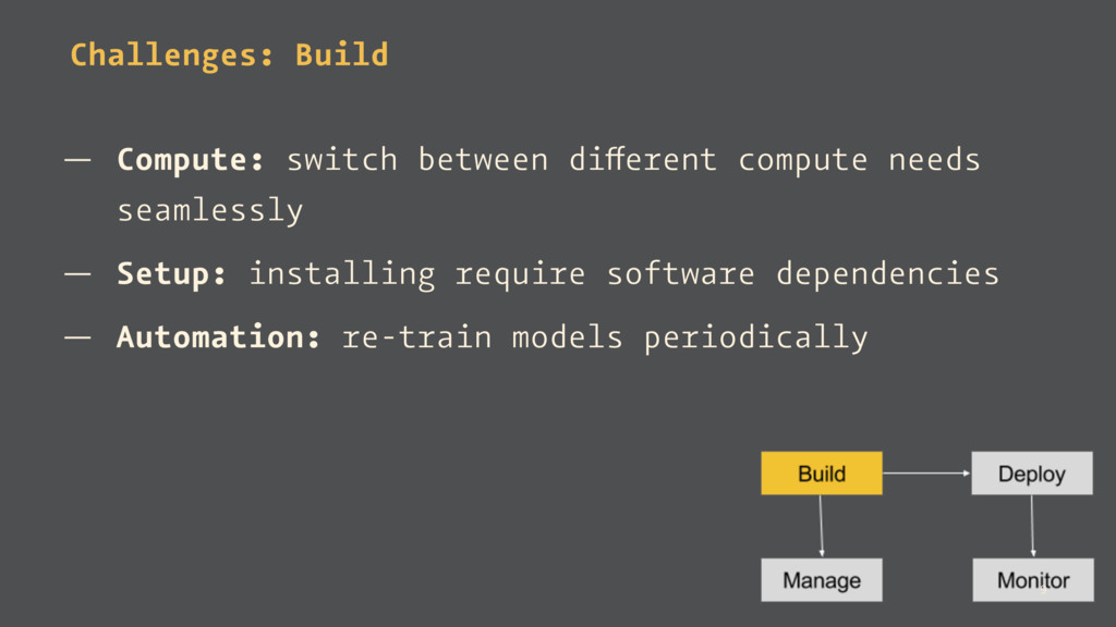 Challenges: Build — Compute: switch between dif...