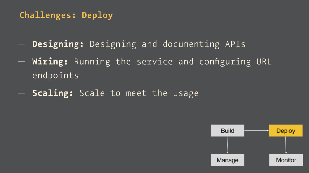 Challenges: Deploy — Designing: Designing and d...