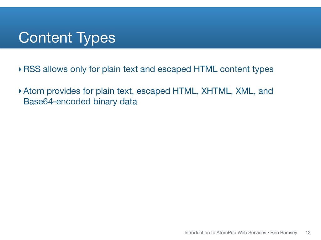Introduction to AtomPub Web Services • Ben Rams...
