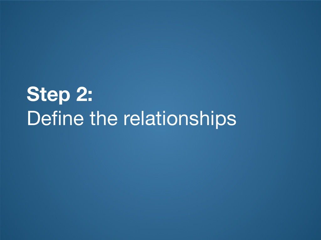 Step 2: Define the relationships