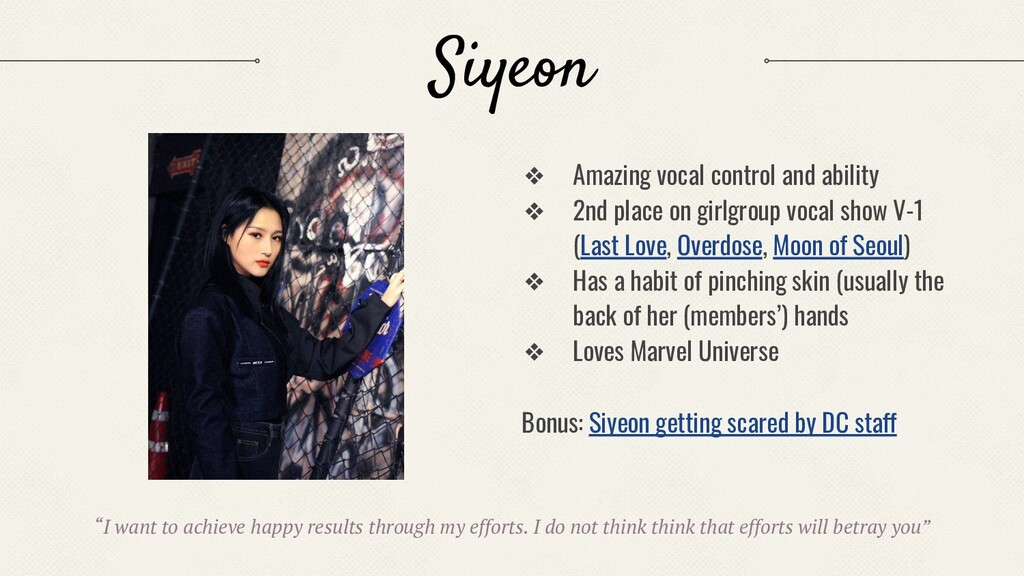 Siyeon ❖ Amazing vocal control and ability ❖ 2n...