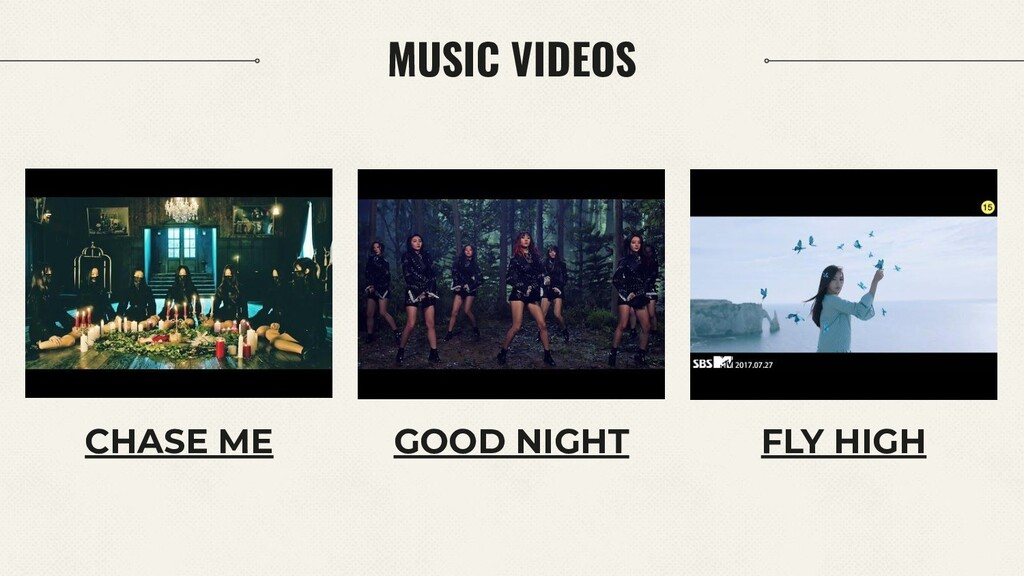 MUSIC VIDEOS CHASE ME GOOD NIGHT FLY HIGH
