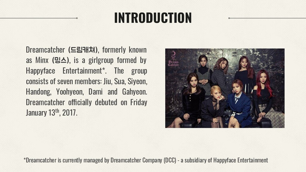 INTRODUCTION Dreamcatcher (드림캐쳐), formerly know...
