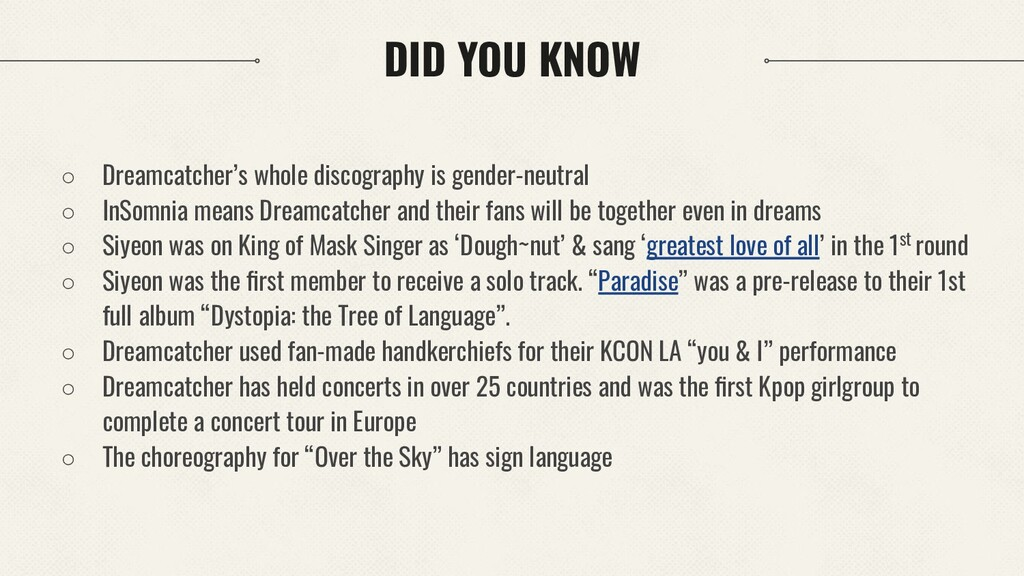 DID YOU KNOW ○ Dreamcatcher's whole discography...