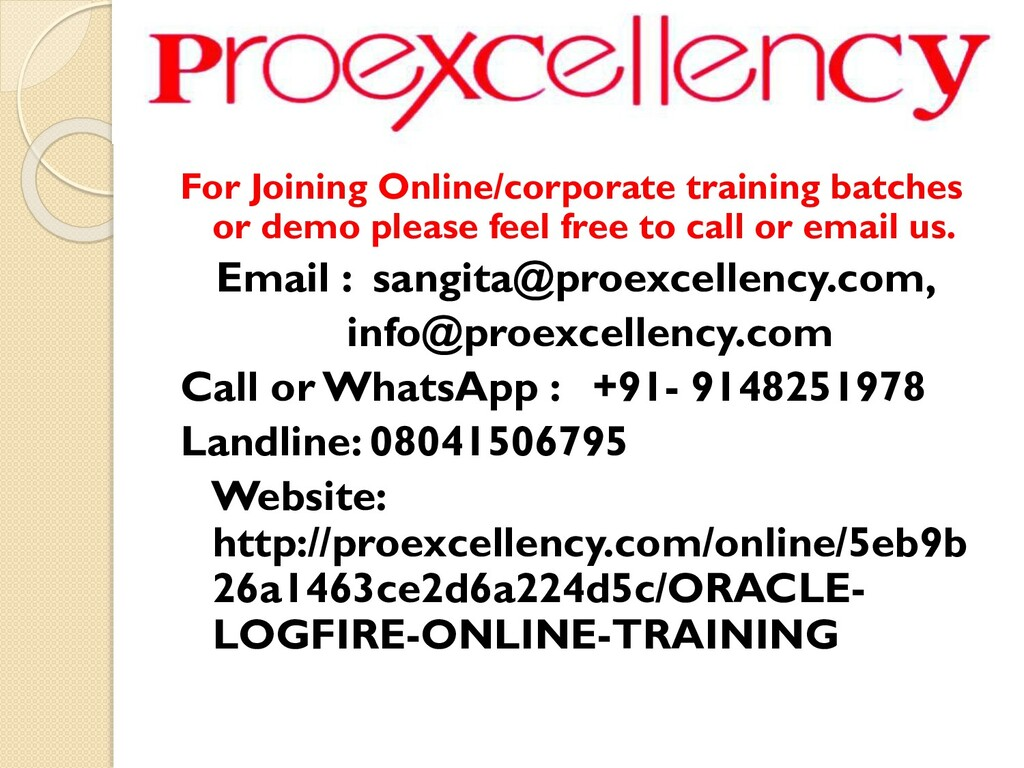 For Joining Online/corporate training batches o...