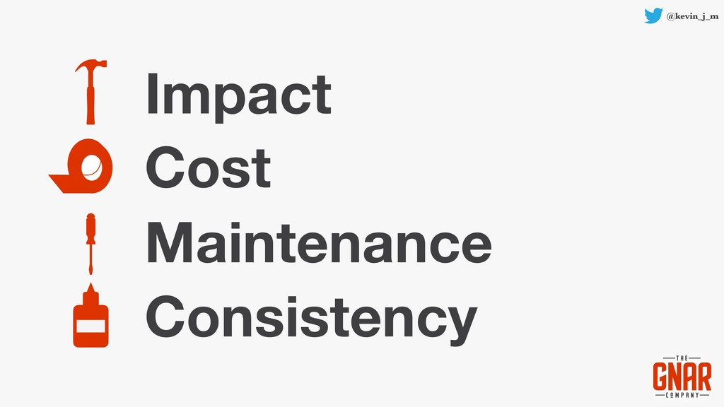 @kevin_j_m Impact Cost Maintenance Consistency