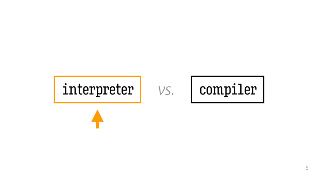 5 compiler interpreter vs.