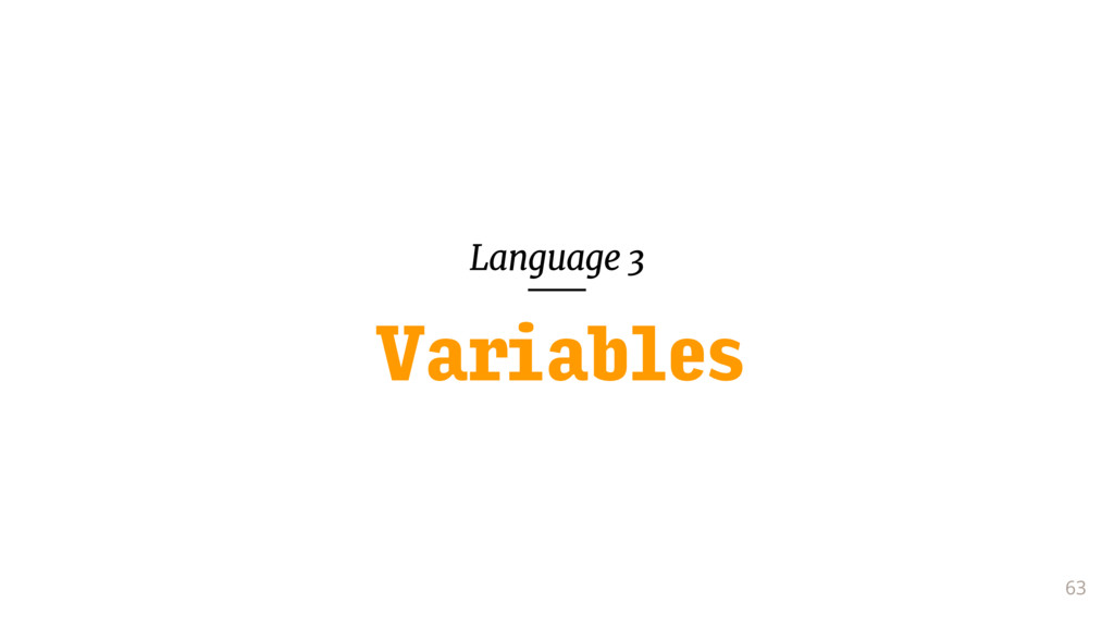 Language 3 63 Variables