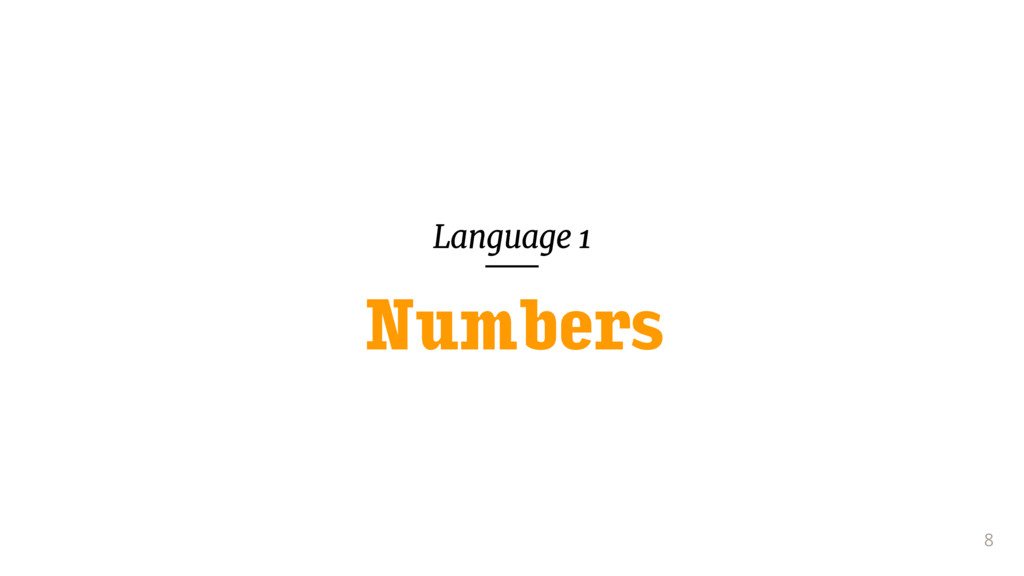 Language 1 8 Numbers