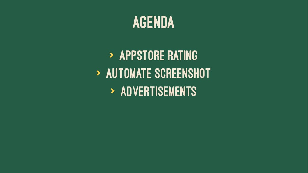 AGENDA > AppStore rating > Automate screenshot ...