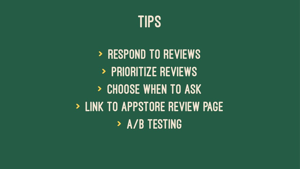 TIPS > Respond to reviews > Prioritize reviews ...