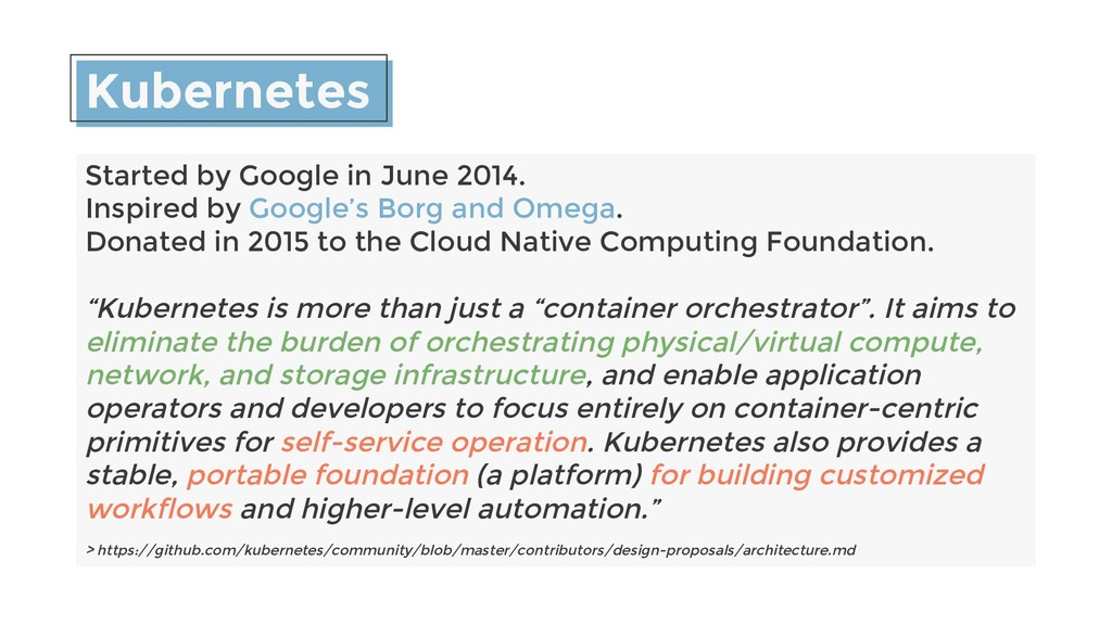 Kubernetes Started by Google in June 2014. Insp...