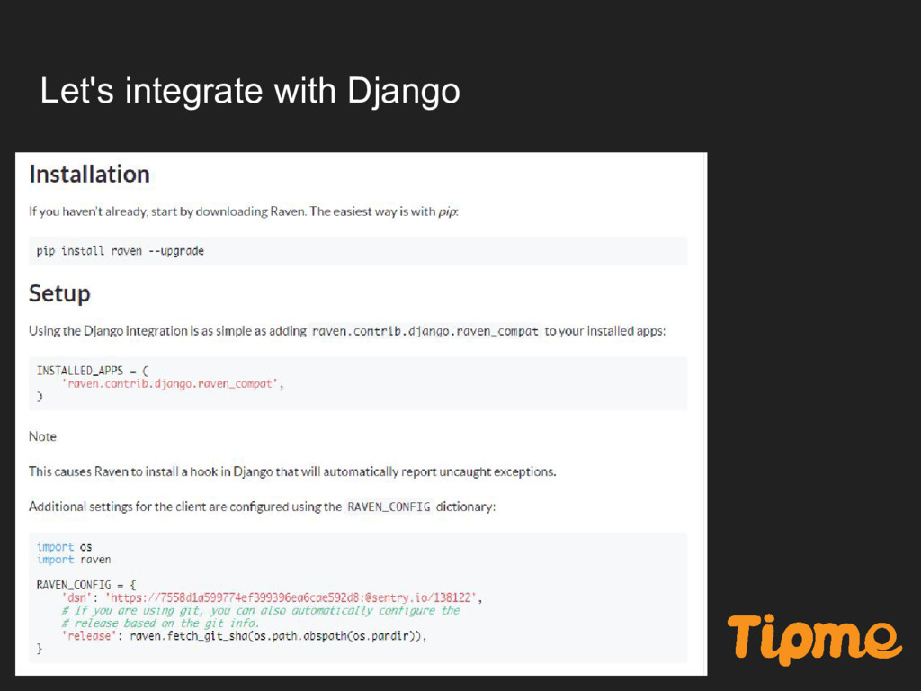Let's integrate with Django
