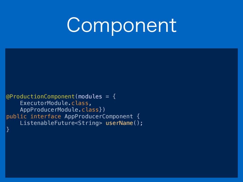 $PNQPOFOU @ProductionComponent(modules = { Exec...