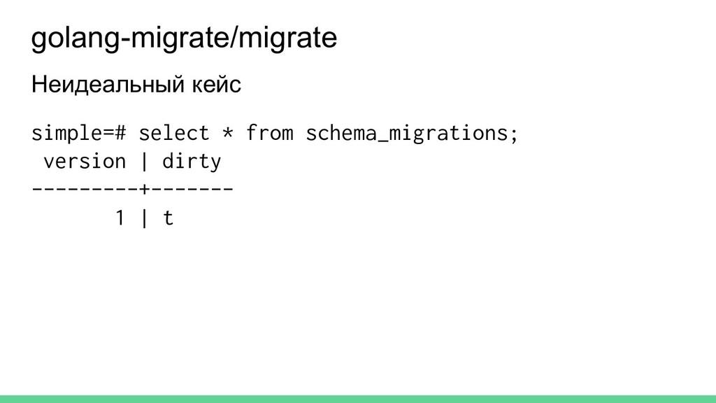 Неидеальный кейс simple=# select * from schema_...
