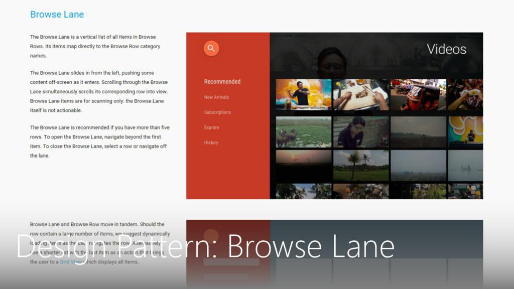 Design Pattern: Browse Lane