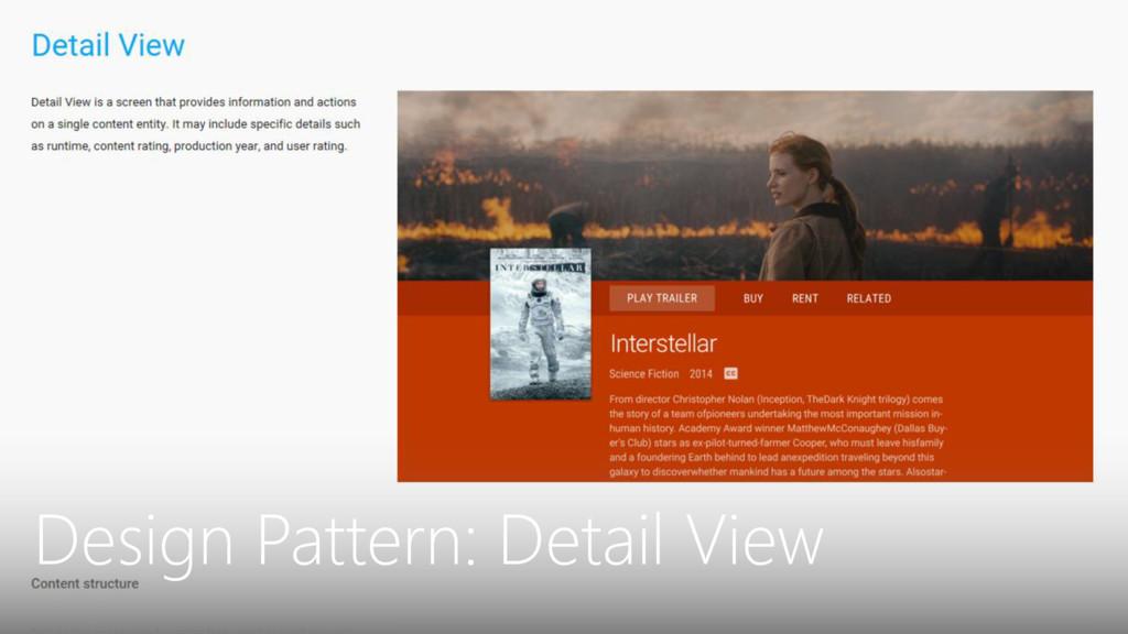 Design Pattern: Detail View