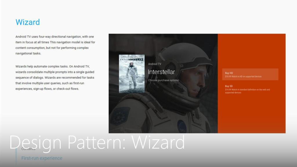 Design Pattern: Wizard