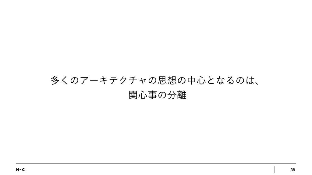 38 ଟ͘ͷΞʔΩςΫνϟͷࢥͷத৺ͱͳΔͷɺ ؔ৺ͷ