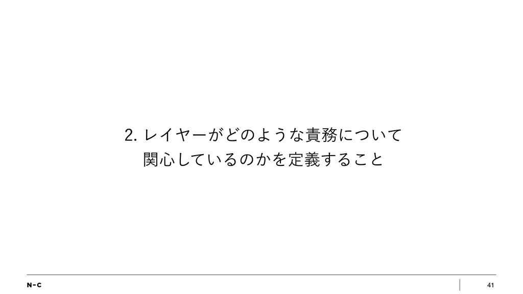 41 ϨΠϠʔ͕ͲͷΑ͏ͳʹ͍ͭͯ ؔ৺͍ͯ͠Δͷ͔Λఆٛ͢Δ͜ͱ
