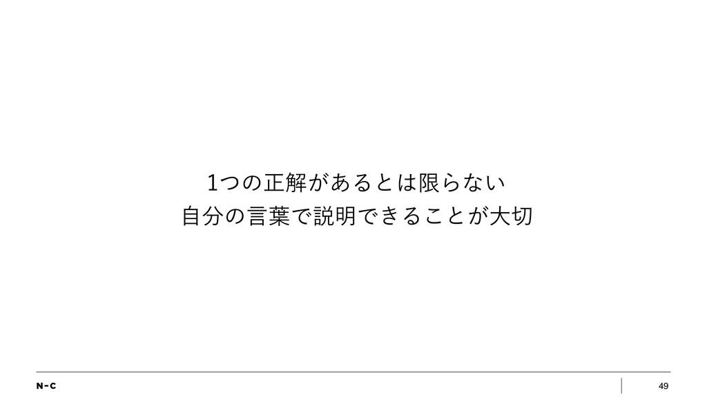 49 ͭͷਖ਼ղ͕͋ΔͱݶΒͳ͍ ࣗͷݴ༿Ͱઆ໌Ͱ͖Δ͜ͱ͕େ