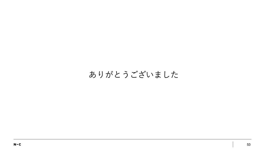 53 ͋Γ͕ͱ͏͍͟͝·ͨ͠