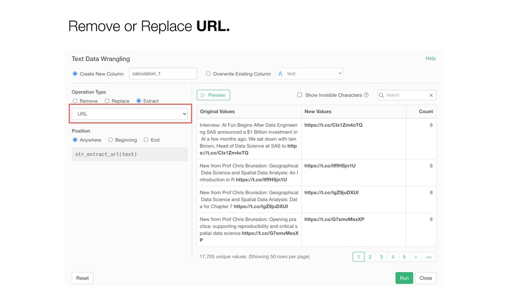 Remove or Replace URL.