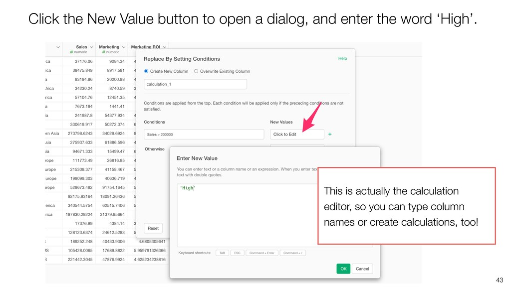 43 Click the New Value button to open a dialog,...