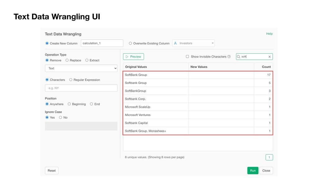 Text Data Wrangling UI