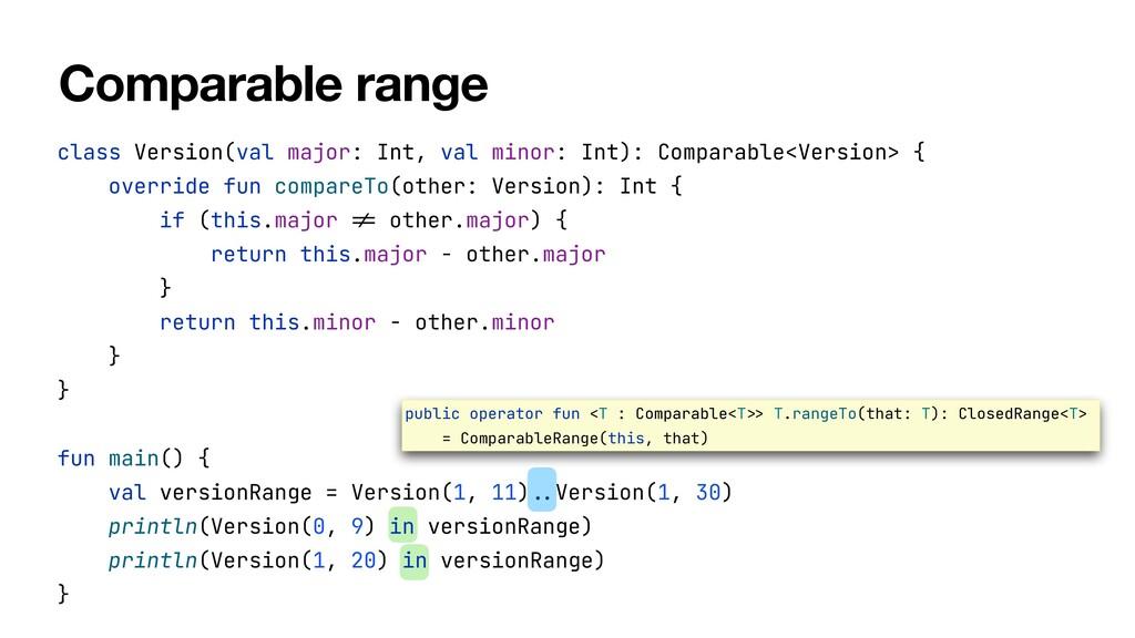 class Version(val major: Int, val minor: Int): ...