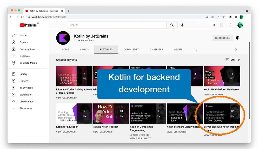 Kotlin for backend development