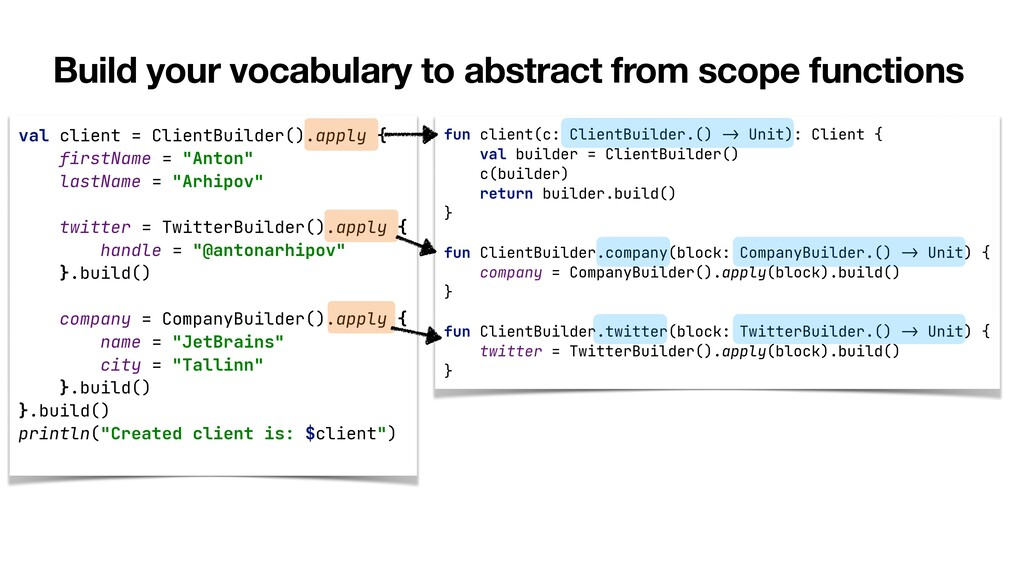 Build your vocabulary to abstract from scope fu...