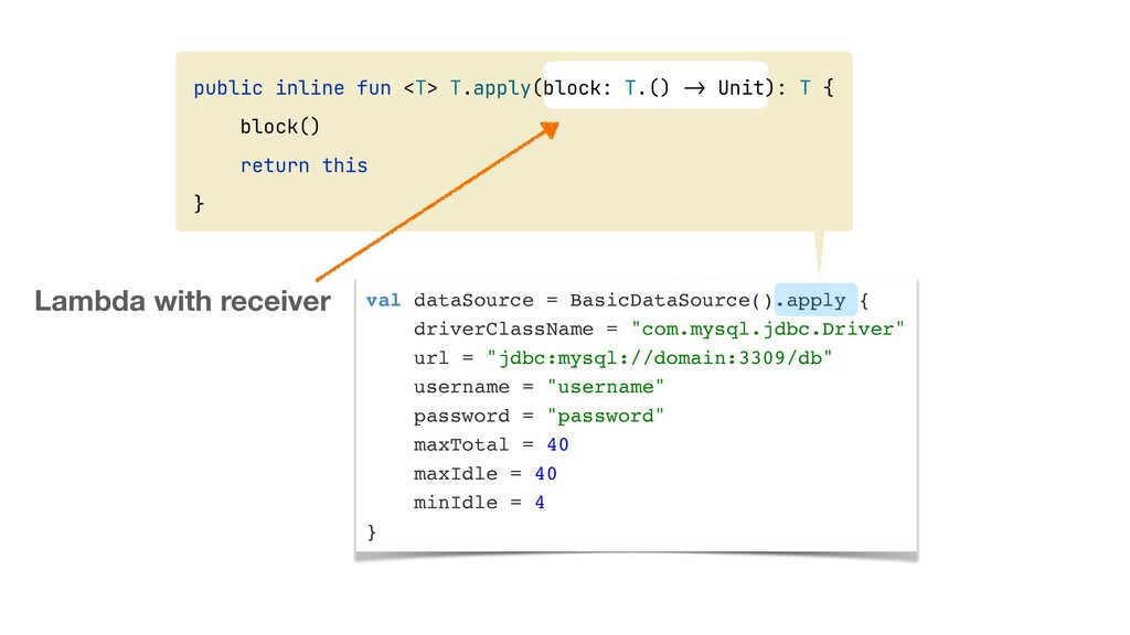val dataSource = BasicDataSource().apply {  dri...