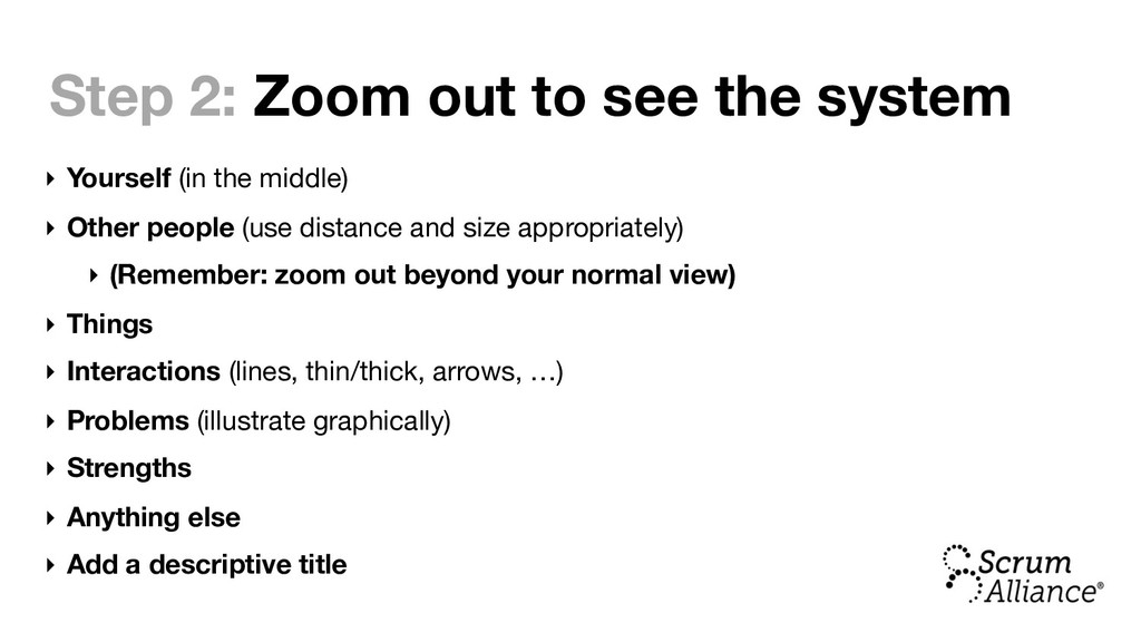 Step 2: Zoom out to see the system ‣ Yourself (...