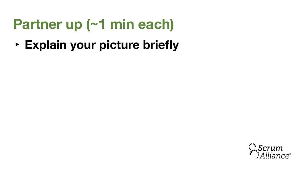 Partner up (~1 min each) ‣ Explain your picture...