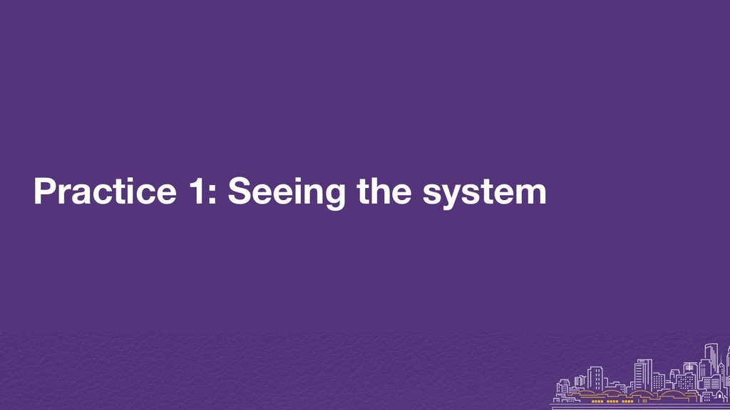 Practice 1: Seeing the system