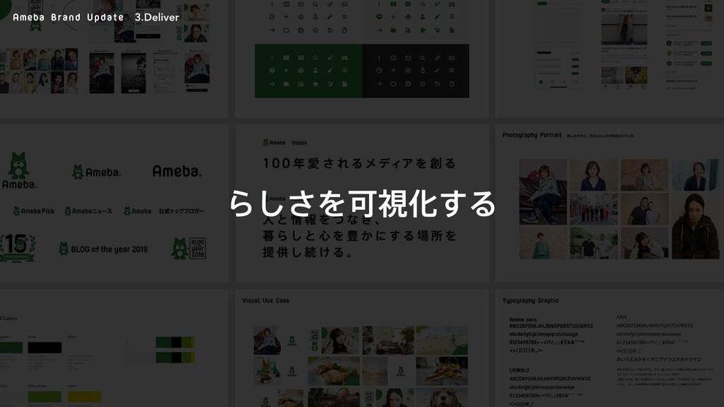 Ameba Brand Update Β͠͞ΛՄࢹԽ͢Δ 3.Deliver