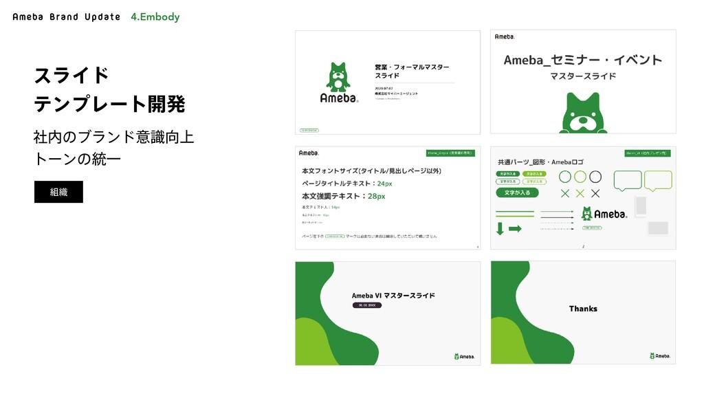 Ameba Brand Update ࣾͷϒϥϯυҙ্ࣝ τʔϯͷ౷Ұ εϥΠυ ςϯ...
