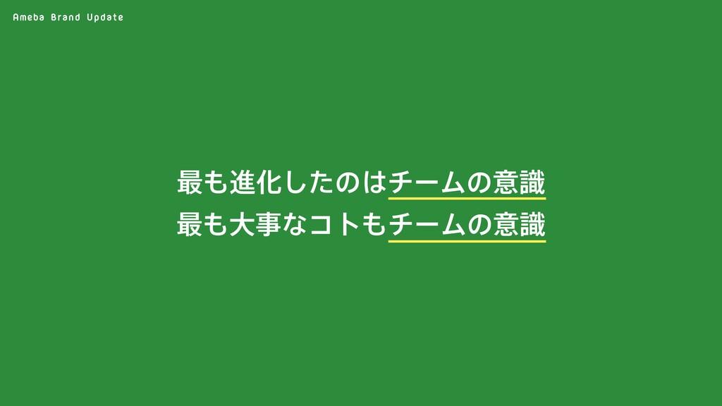 Ameba Brand Update ࠷ਐԽͨ͠ͷνʔϜͷҙࣝ ࠷େͳίτνʔϜͷ...