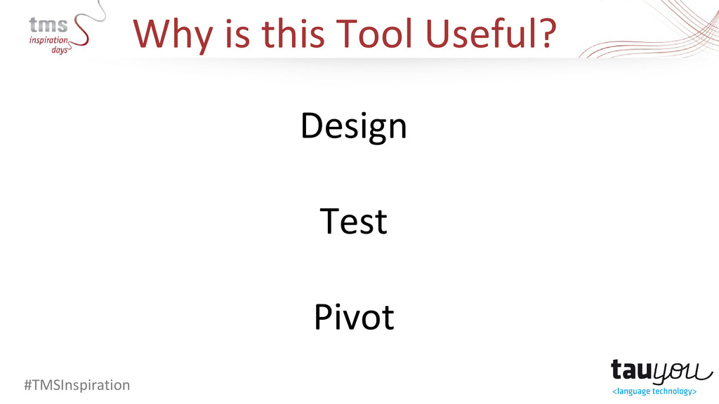 Why is this Tool Useful? #TMSInspiration Design...