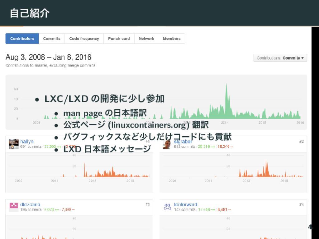 ࣗݾհ • LXC/LXD ͷ։ൃʹগ͠Ճ • man page ͷຊޠ༁ • ެࣜϖʔ...