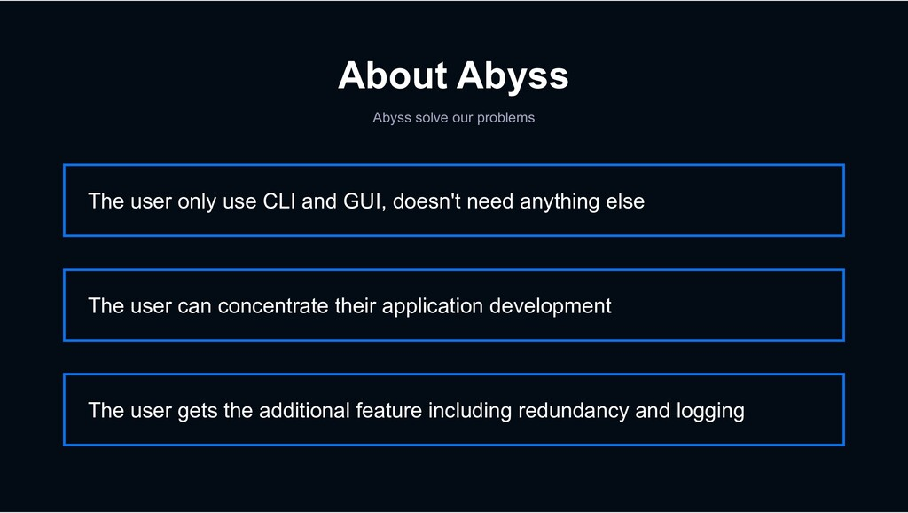 About Abyss Abyss solve our problems The user o...
