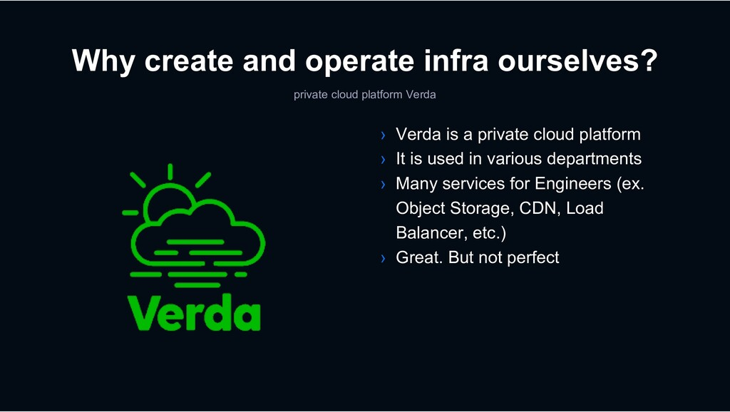 private cloud platform Verda › Verda is a priva...