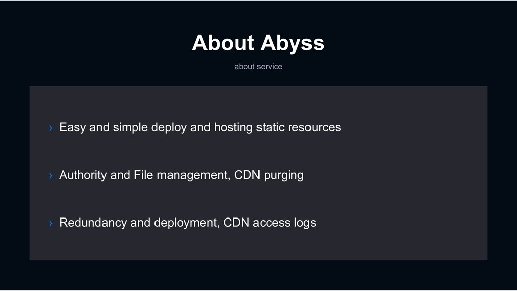 About Abyss about service › Authority and File ...