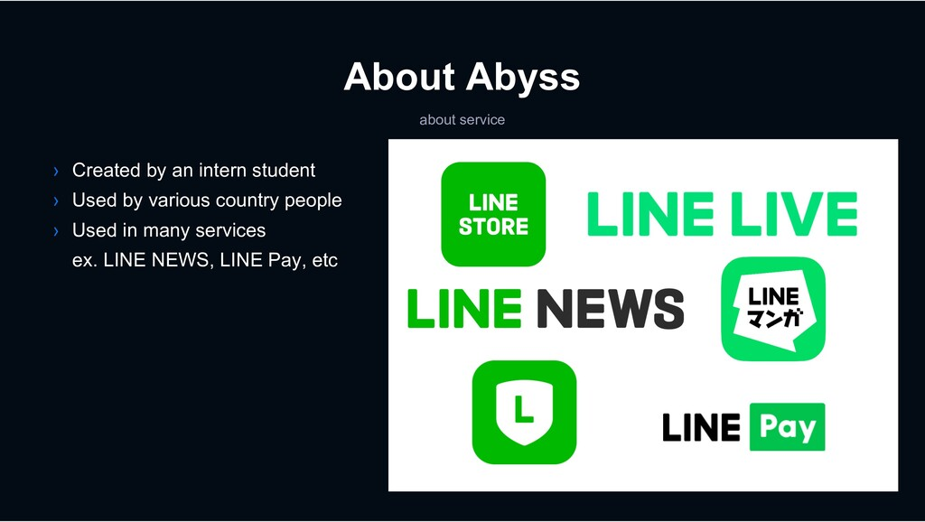 About Abyss about service › Created by an inter...