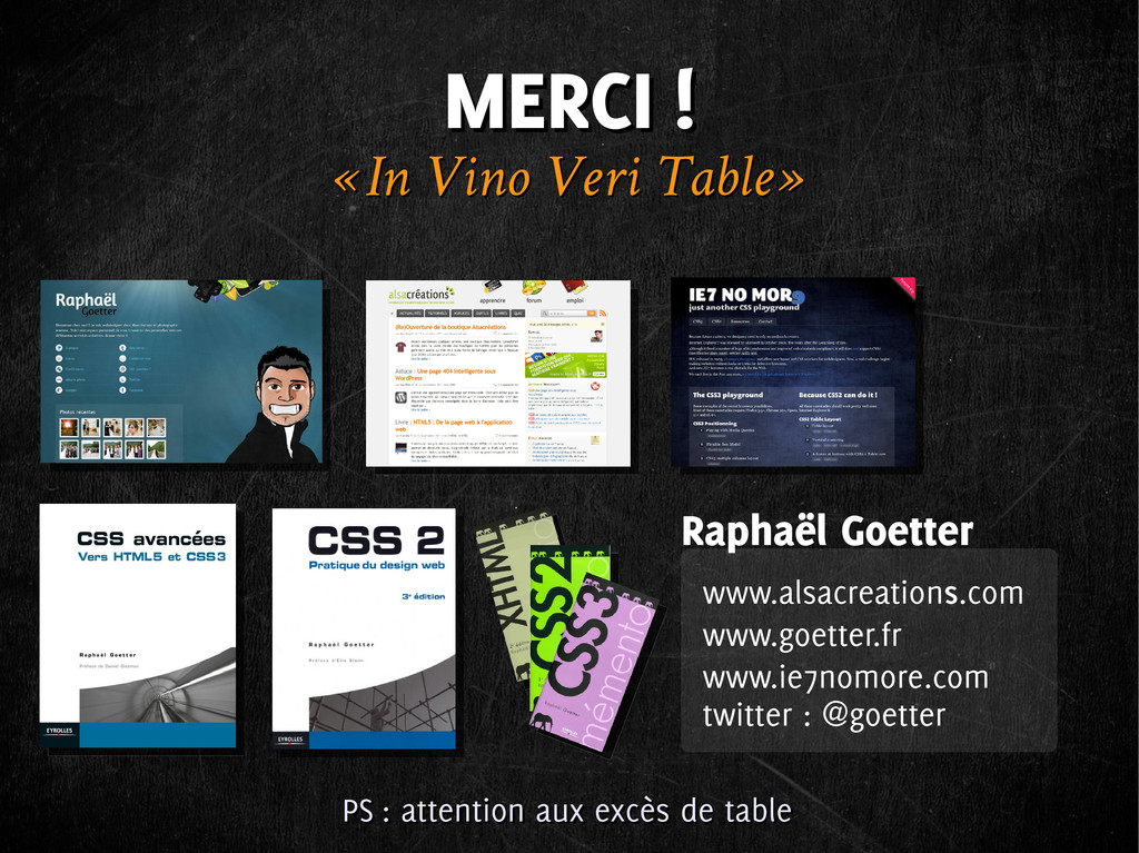 MERCI ! MERCI ! « In Vino Veri Table » « In Vin...