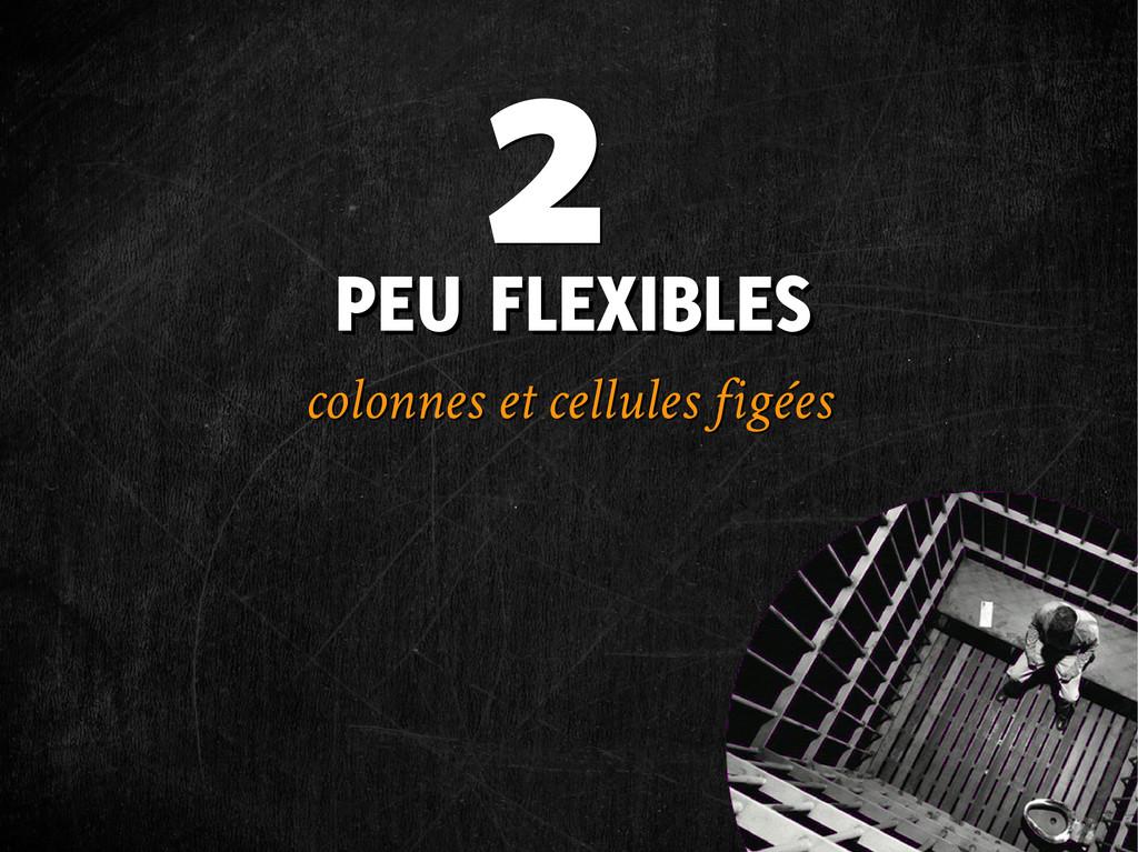PEU FLEXIBLES PEU FLEXIBLES colonnes et cellule...